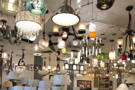 Lighting fixtures in showroom
